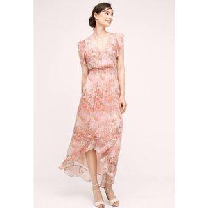 Anthro HD in Paris Sidra Chiffon Floral Dress.